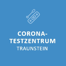 Corona-Testzentrum in Traunstein.