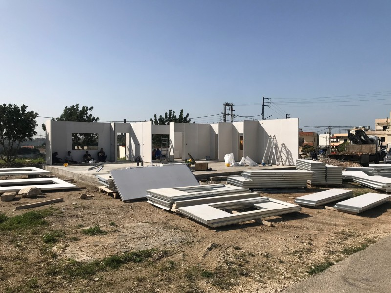 Bau der neuen Isolierstation in Qrayeh © Landratsamt Traunstein