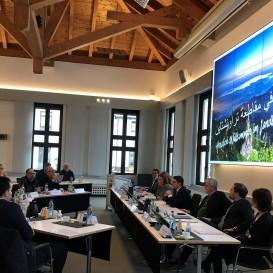 © Landratsamt Traunstein: In einem Workshop im Landratsamt wurden konkrete Projekte für die Entwicklungspartnerschaft besprochen.