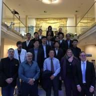 © Landratsamt Traunstein: Die Delegation aus China besuchte gemeinsam mit Vertretern des Landratsamtes Traunstein die Adelholzener Alpenquellen in Siegsdorf.
