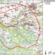 © Landratsamt Traunstein      Karte Sperrbezirk im Gemeindegebiet Surberg und Stadtgebiet Traunstein