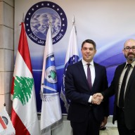 © Landratsamt Traunstein: Landrat Siegfried Walch und Saleh Abou-Mansour (Präsident des Gemeindeverbunds Jabal El-Sheikh).