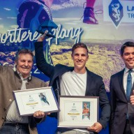 © Landratsamt Traunstein: Sepp und Josef Ferstl, ausgezeichnet mit dem Chiemgauer Panther 2019 durch Landrat Siegfried Walch.