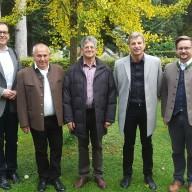 © Landratsamt Traunstein: Gaben mit ihren Referaten Impulse für die Diskussion (von links nach rechts): Stephan Jürgenliemk, Josef Holzer, Josef Häusler, Manfred Bulka, Kreisfachberater Markus Breier.